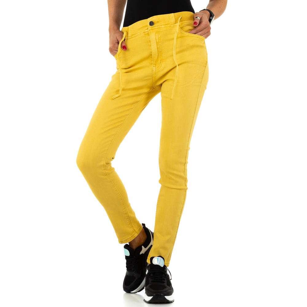 Blugi de dama de la Daysie Jeans - galben - image 4