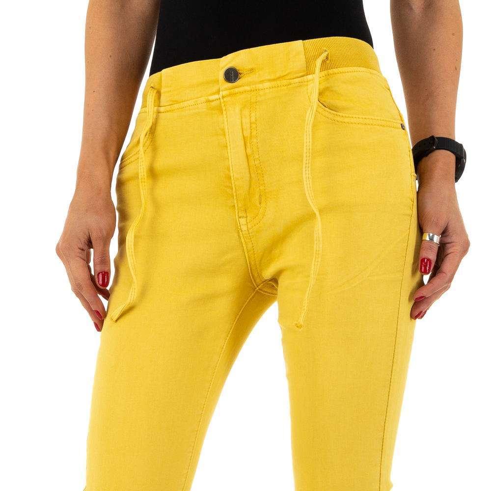 Blugi de dama de la Daysie Jeans - galben - image 5