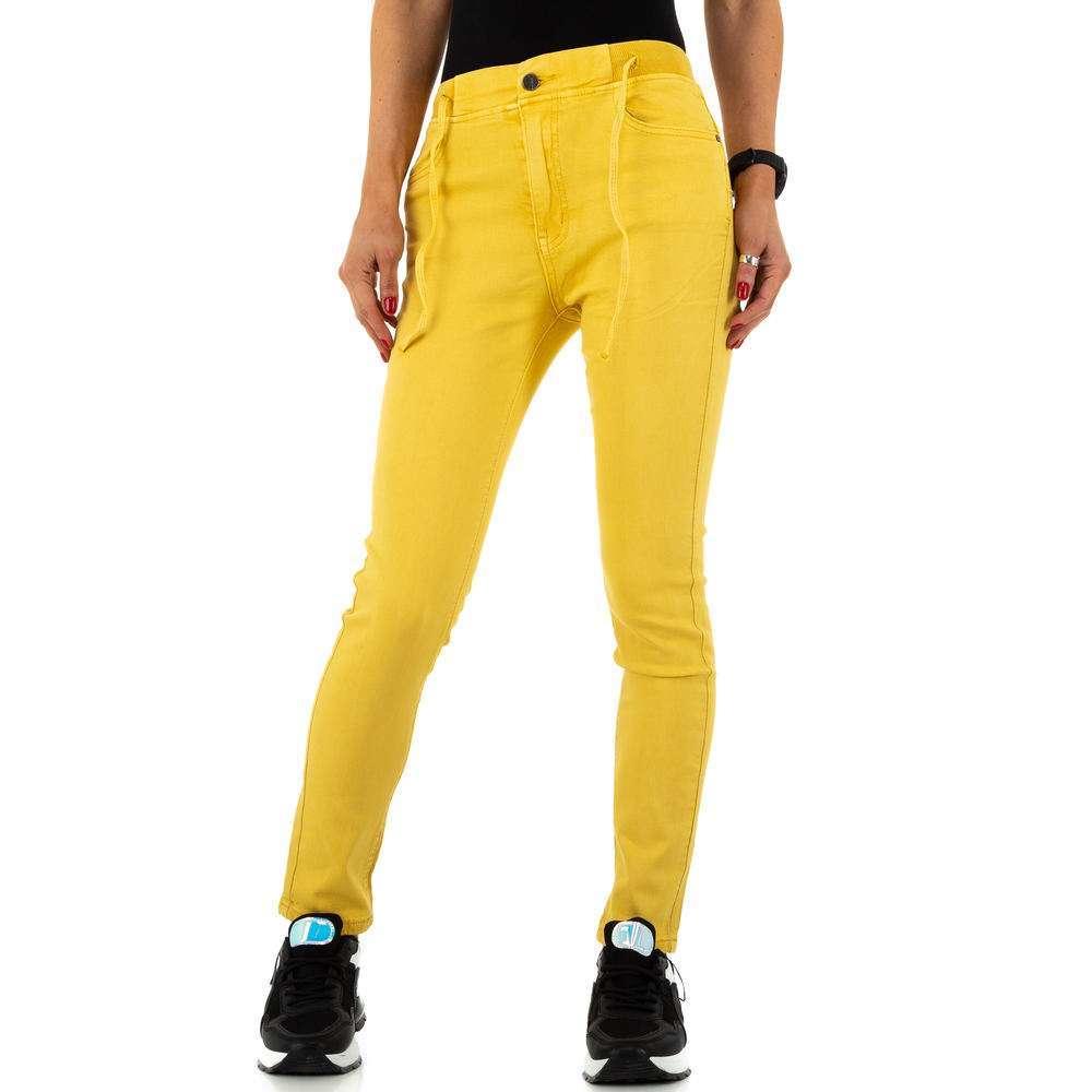Blugi de dama de la Daysie Jeans - galben - image 6