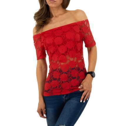 Damen Bluse von Whoo Fashion - red