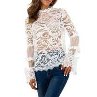 Damen Bluse von Whoo Fashion - white