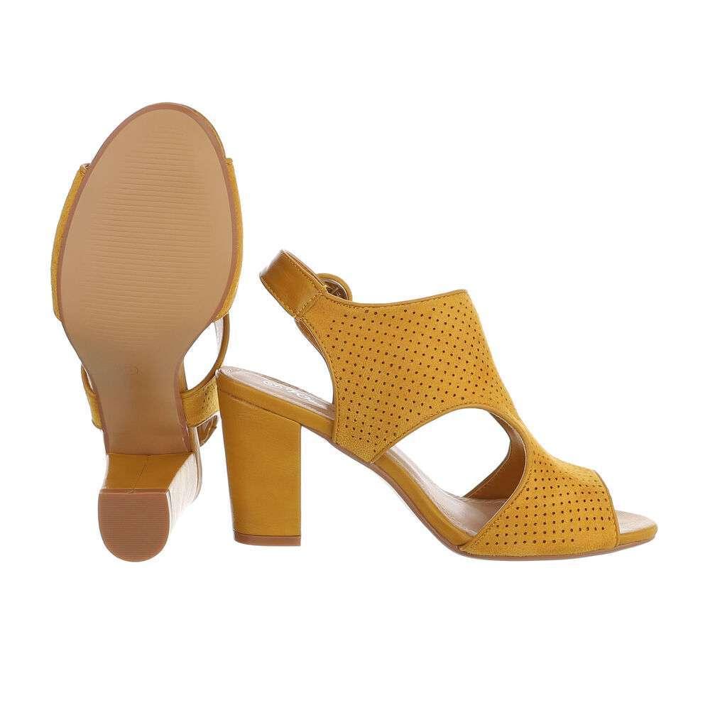 Sandale de dama - galbene - image 2