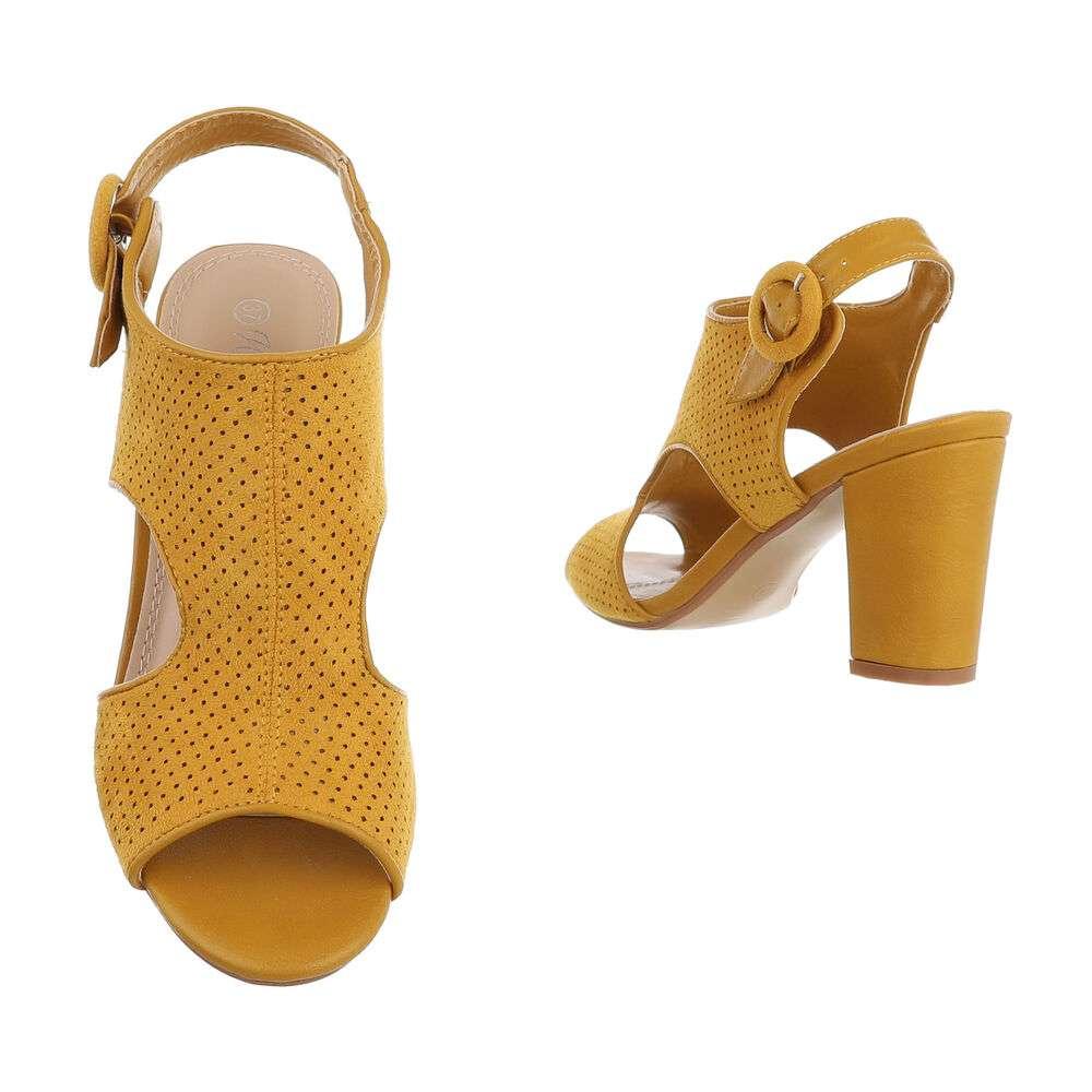 Sandale de dama - galbene - image 3