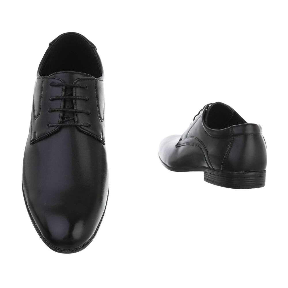 Pantofi de afaceri pentru bărbați - negri - image 3