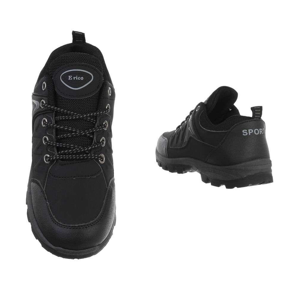 Pantofi casual pentru bărbați - negru-gri - image 3