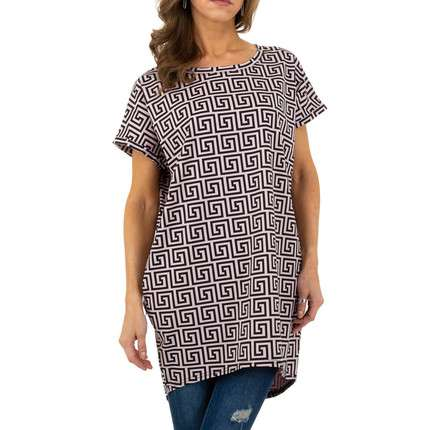 Damen Shirt von SHK Mode Paris Gr. One Size - lila