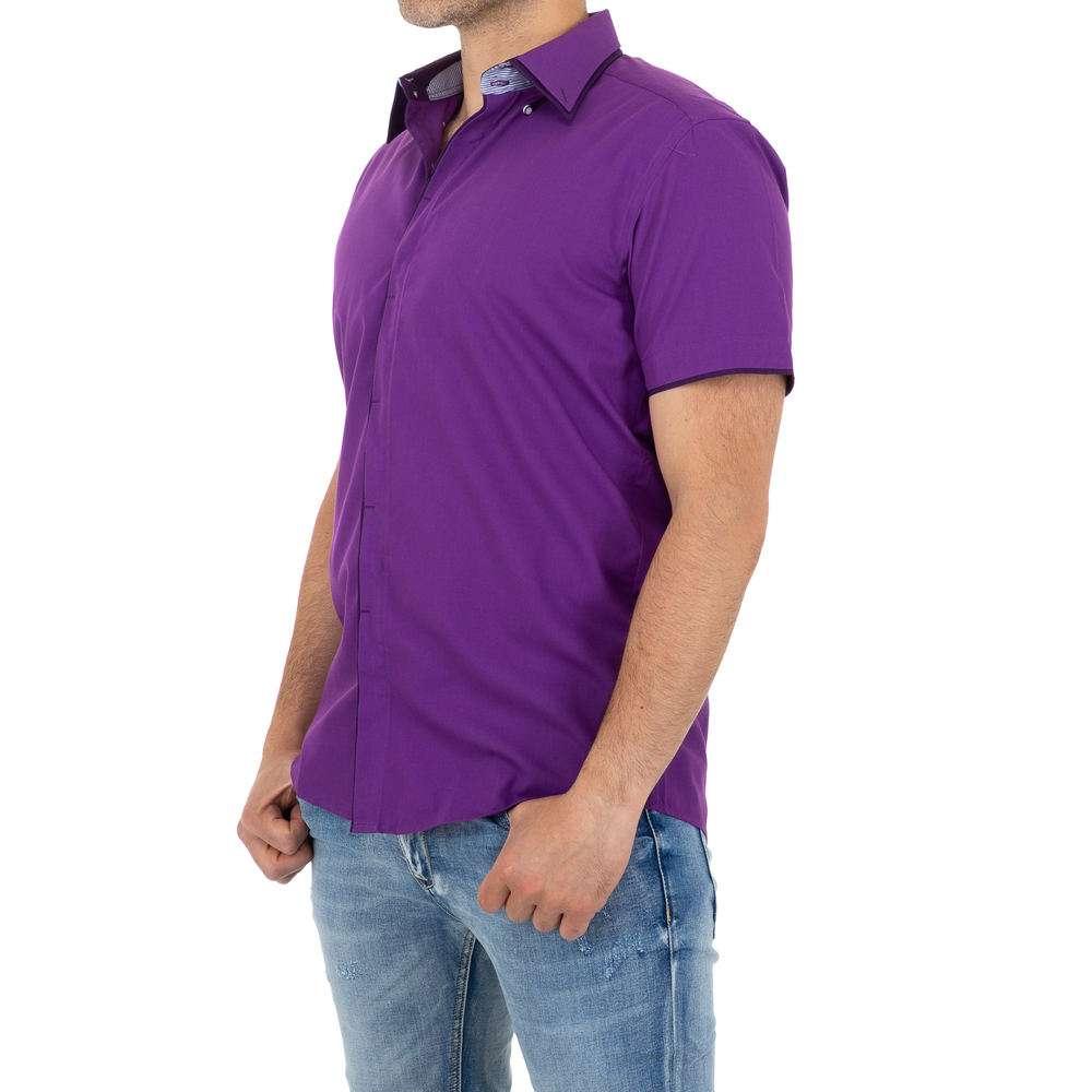 Cămașă bărbătească by Climmer - violet - image 2