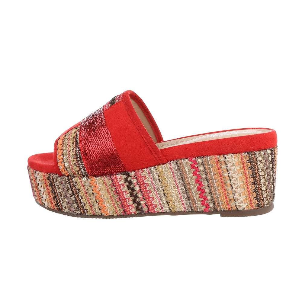 Sandale cu platformă pentru femei - roșii - image 1