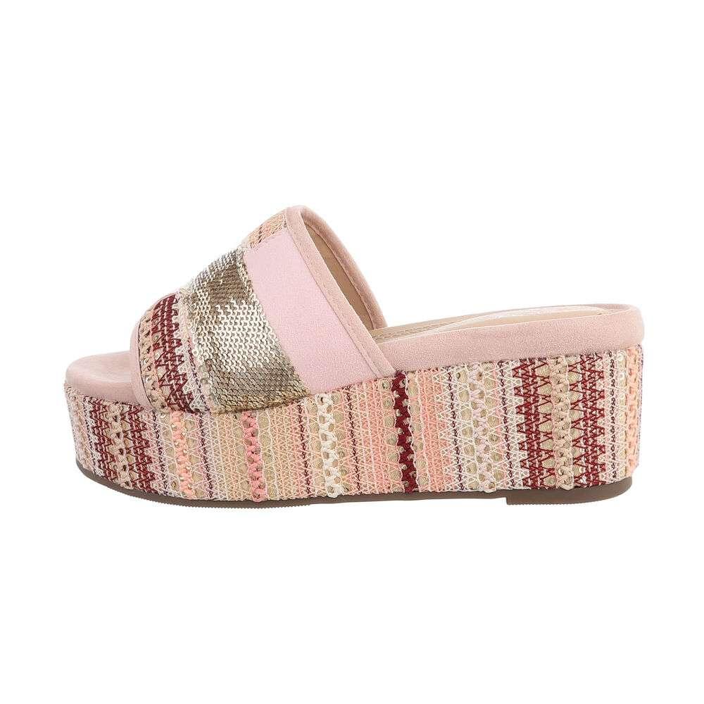 Sandale cu platformă pentru femei - roz