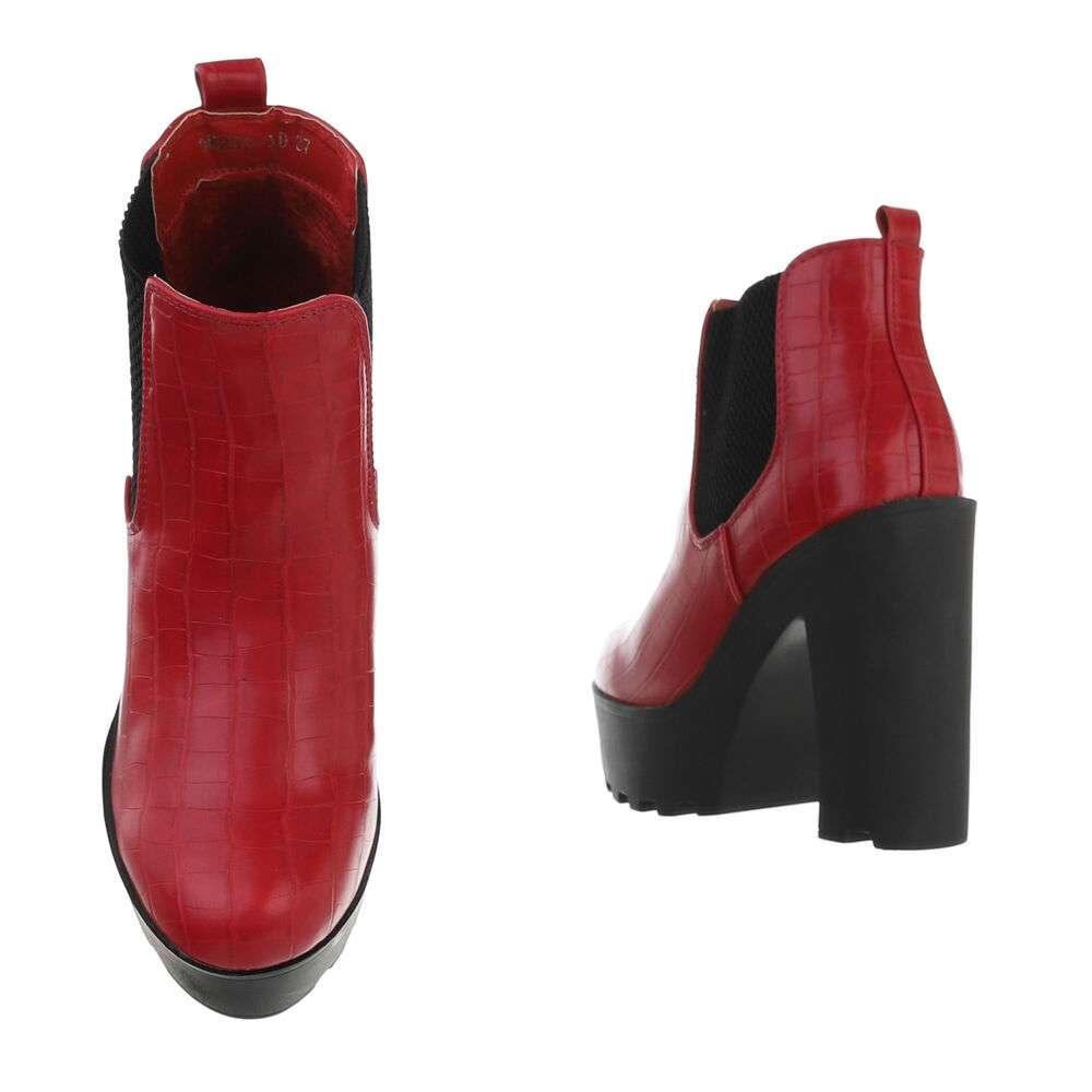 Cizme pentru femei cu toc înalt - roșu - image 3