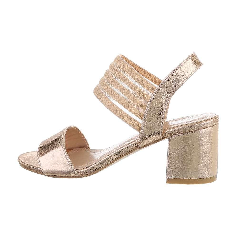 Sandale pentru femei - șampanie