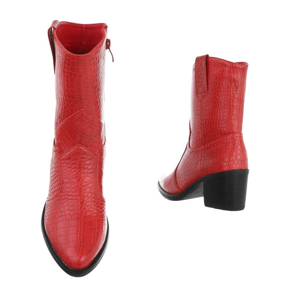 Cizme de damă occidentale si motocicliste - roșiicroc - image 3