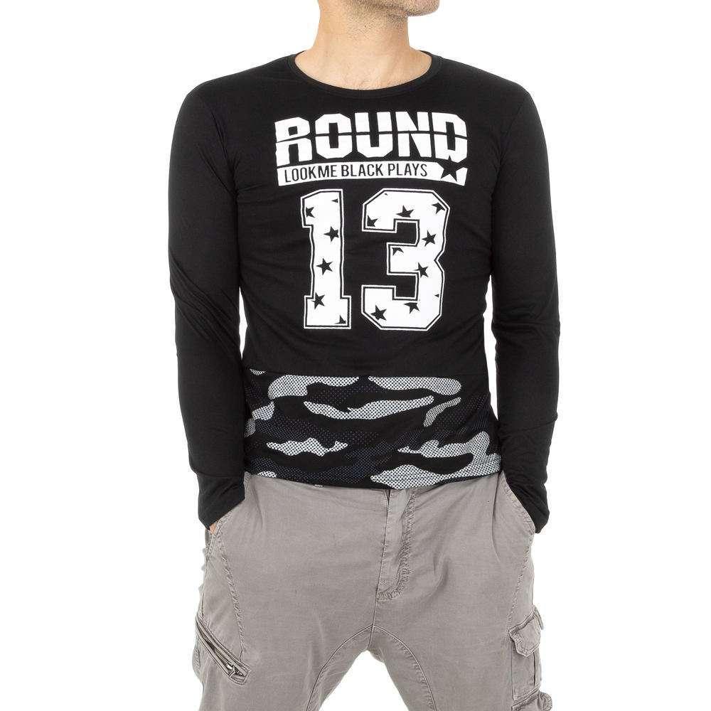 Tricou bărbătesc de la Nanqier - negru