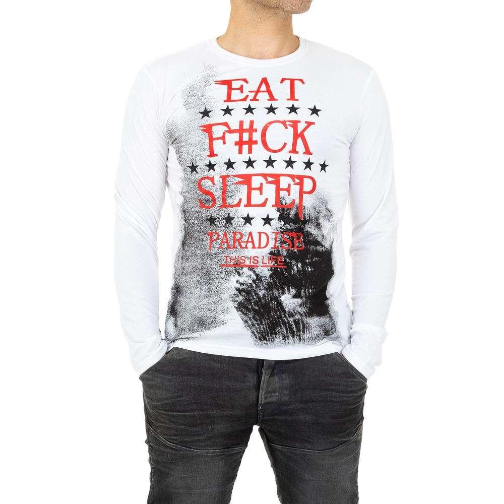 Tricou bărbătesc de la Nanqier - alb