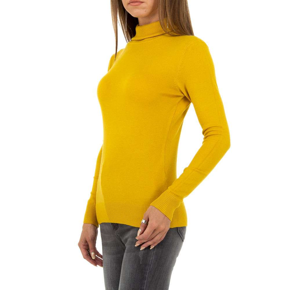 Pulover pentru femei de la Metrofive - muștar - image 2