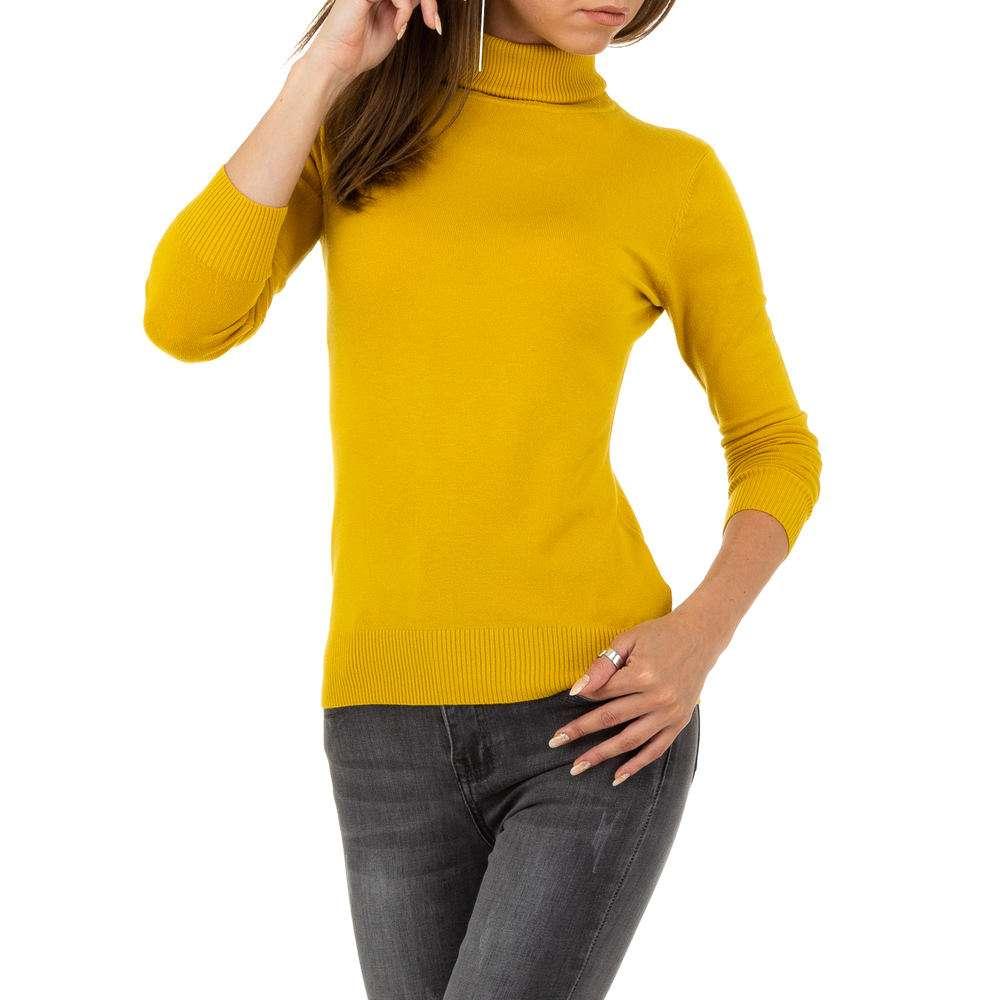 Pulover pentru femei de la Metrofive - muștar - image 4