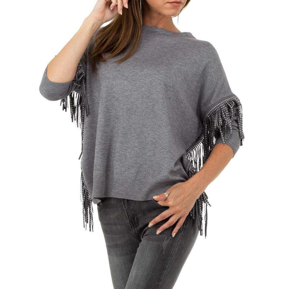 Pulover pentru femei marca Glo storye - gri - image 4