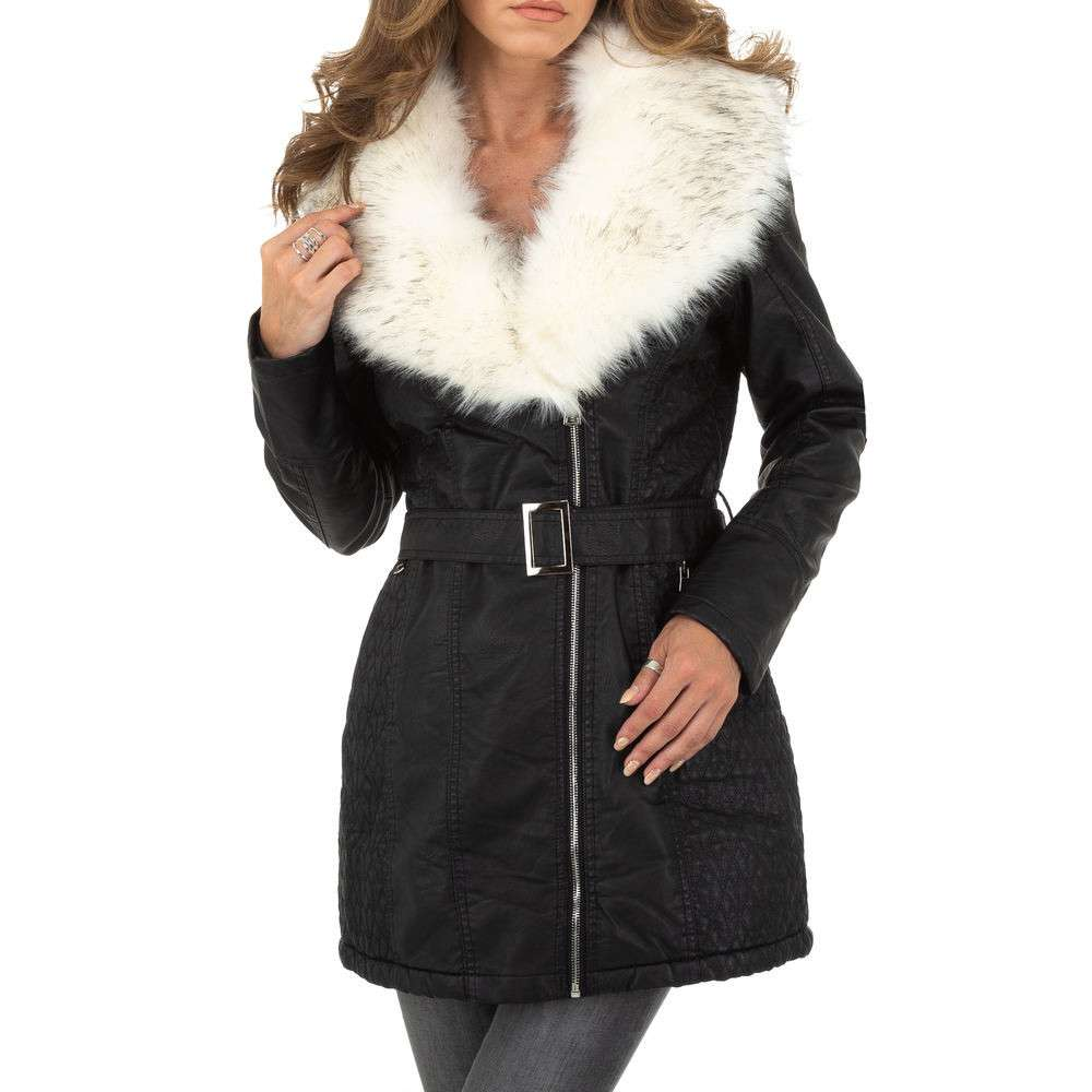 Palton de dama Metrofive - negru