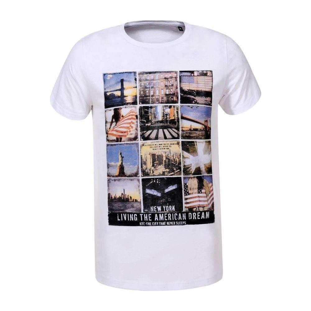Tricou bărbătesc marca Glo Story - alb