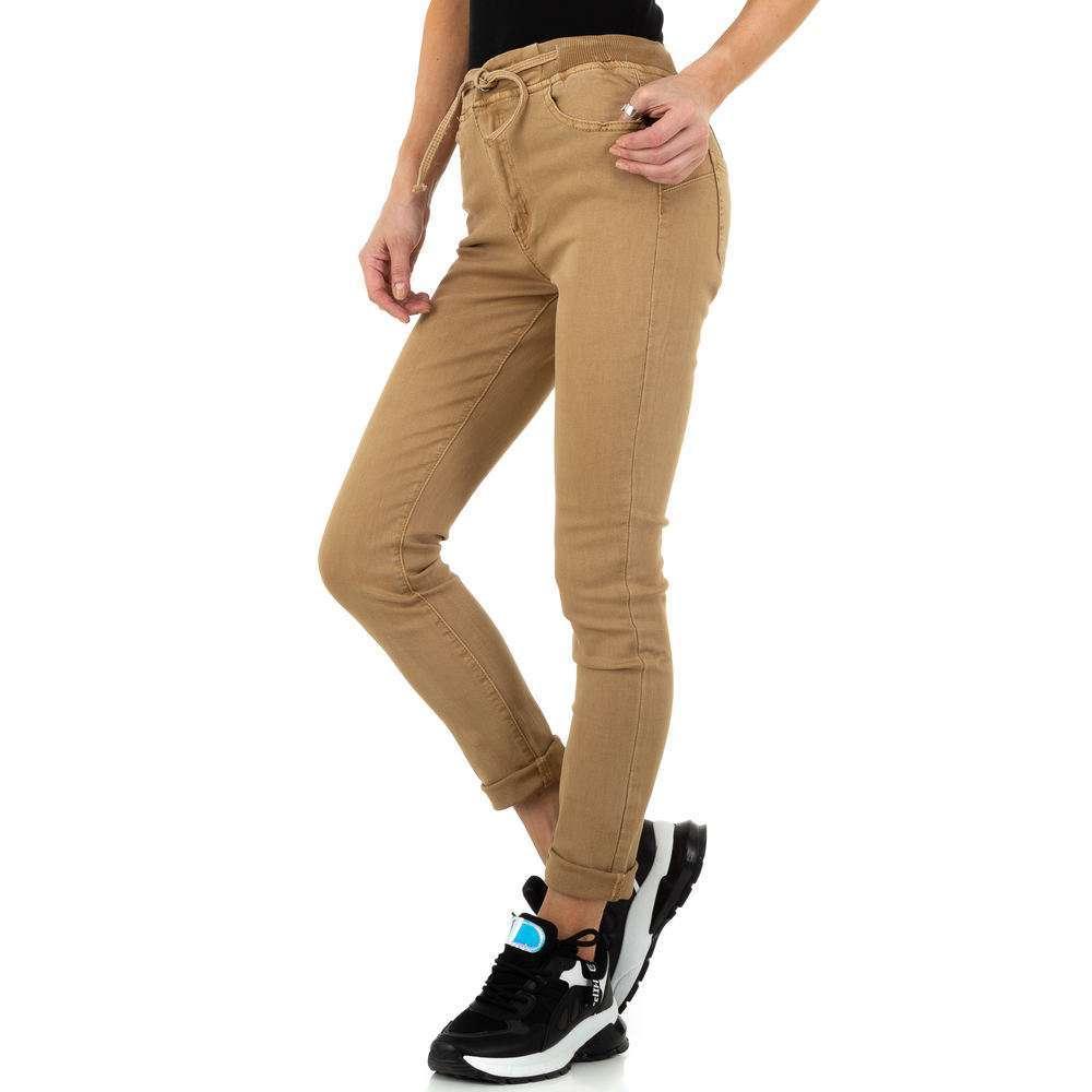 Blugi de dama de la Daysie Jeans - bej - image 2