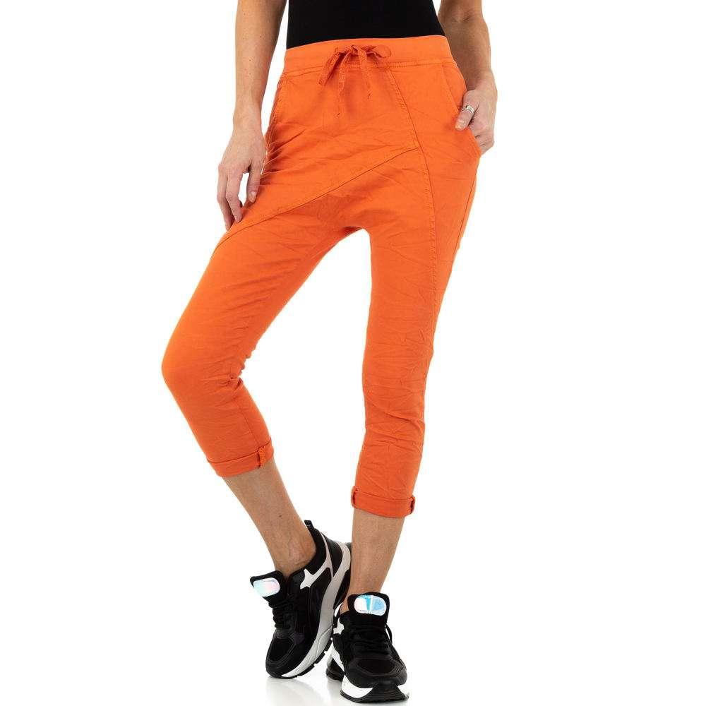 Pantaloni de dama Place du Jour - portocaliu