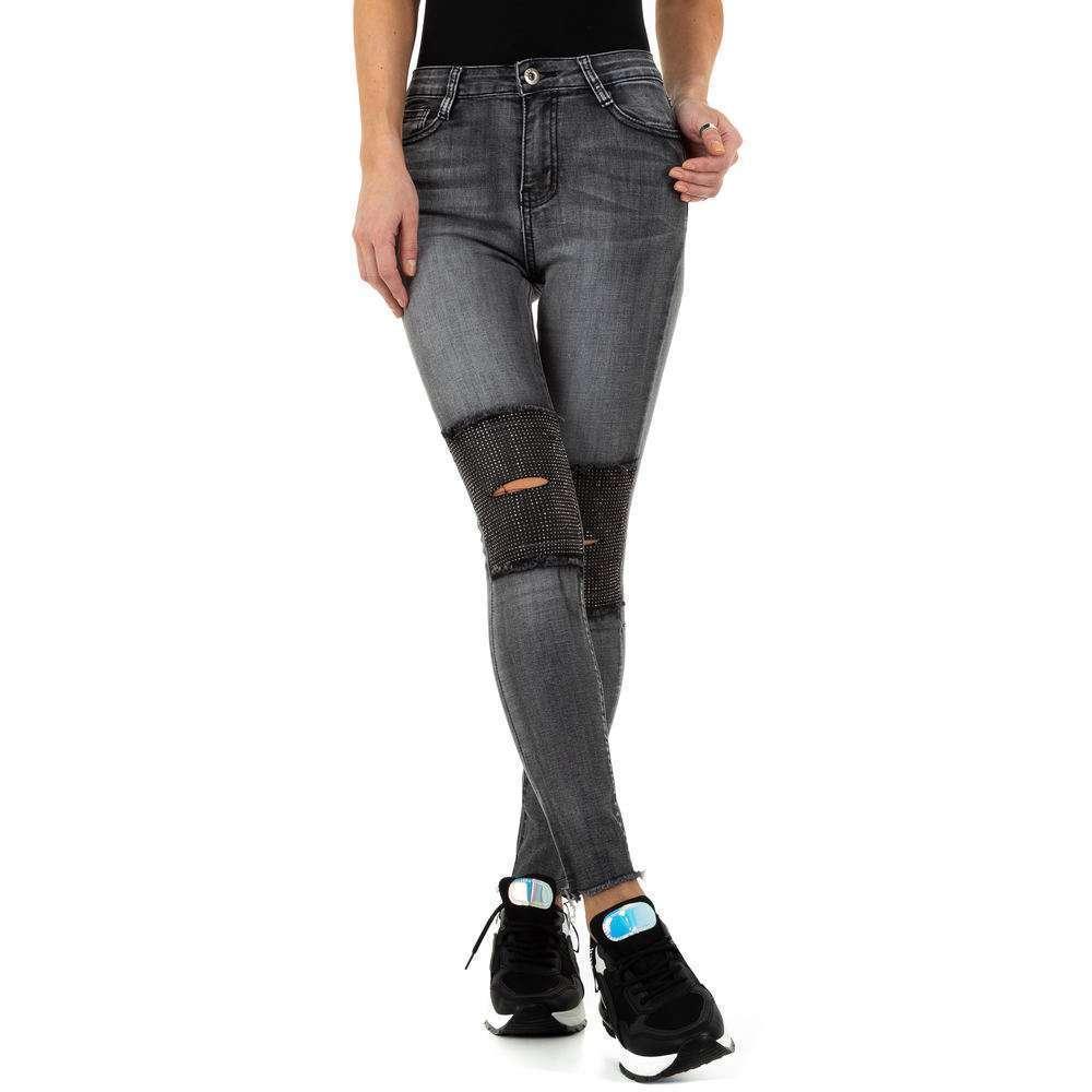 Blugi de dama de la Daysie Jeans - gri - image 4
