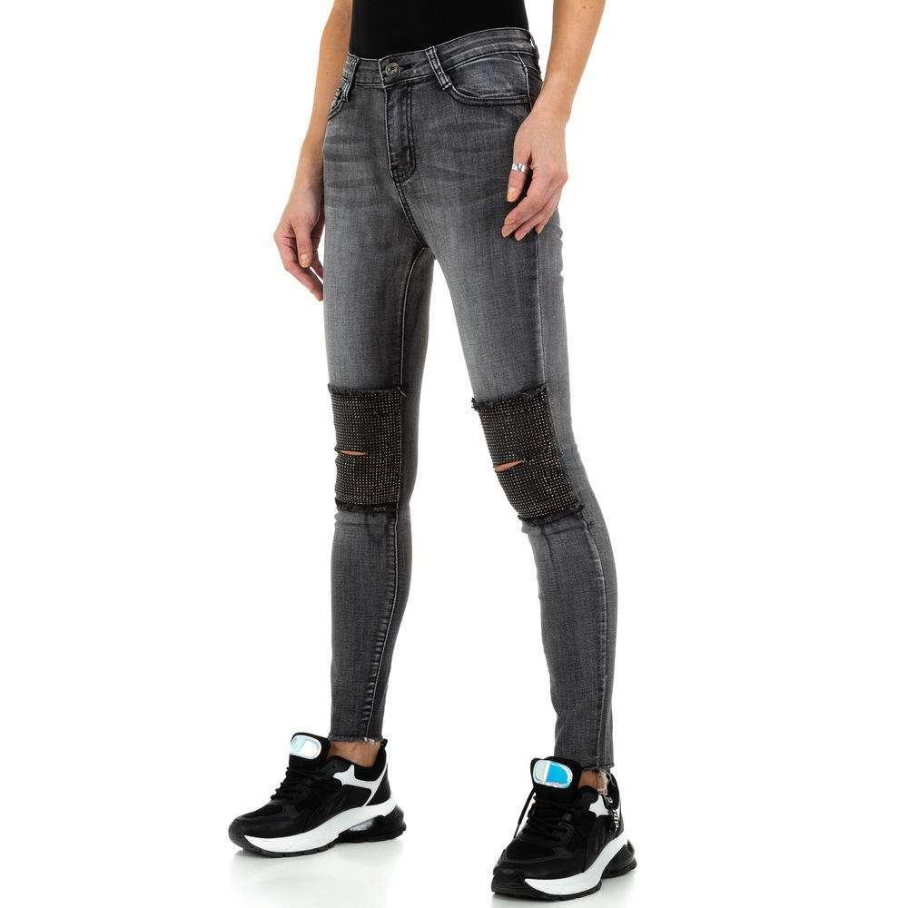 Blugi de dama de la Daysie Jeans - gri - image 6