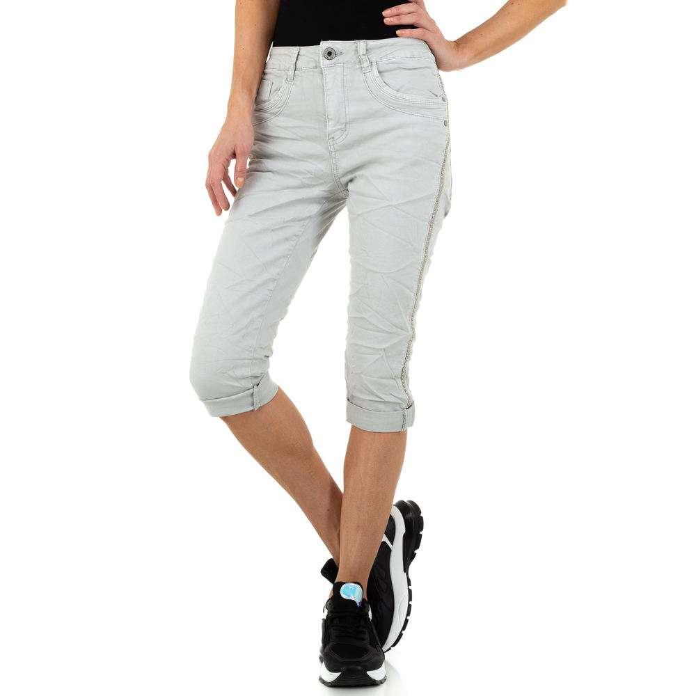 Blugi pentru femei de la Jewelly Jeans - deschis gri