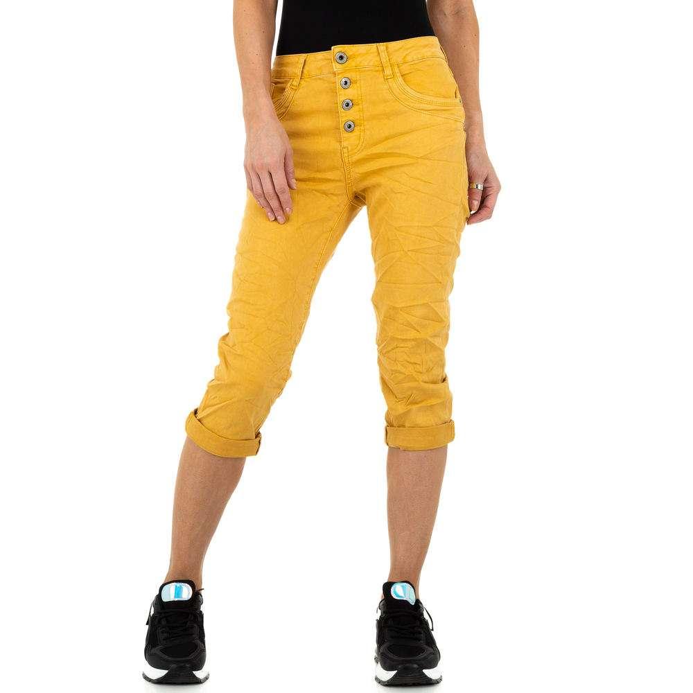 Blugi de damă Jewelly Jeans - galben