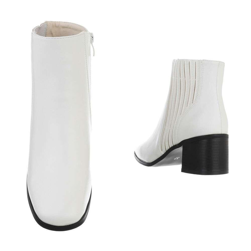 Cizme pentru femei cu toc înalt - alb - image 3