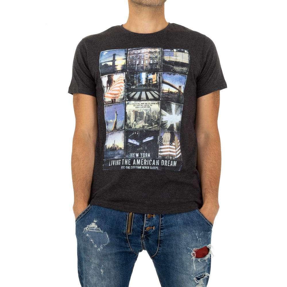 Tricou bărbătesc de la Glo Story - gri - image 1