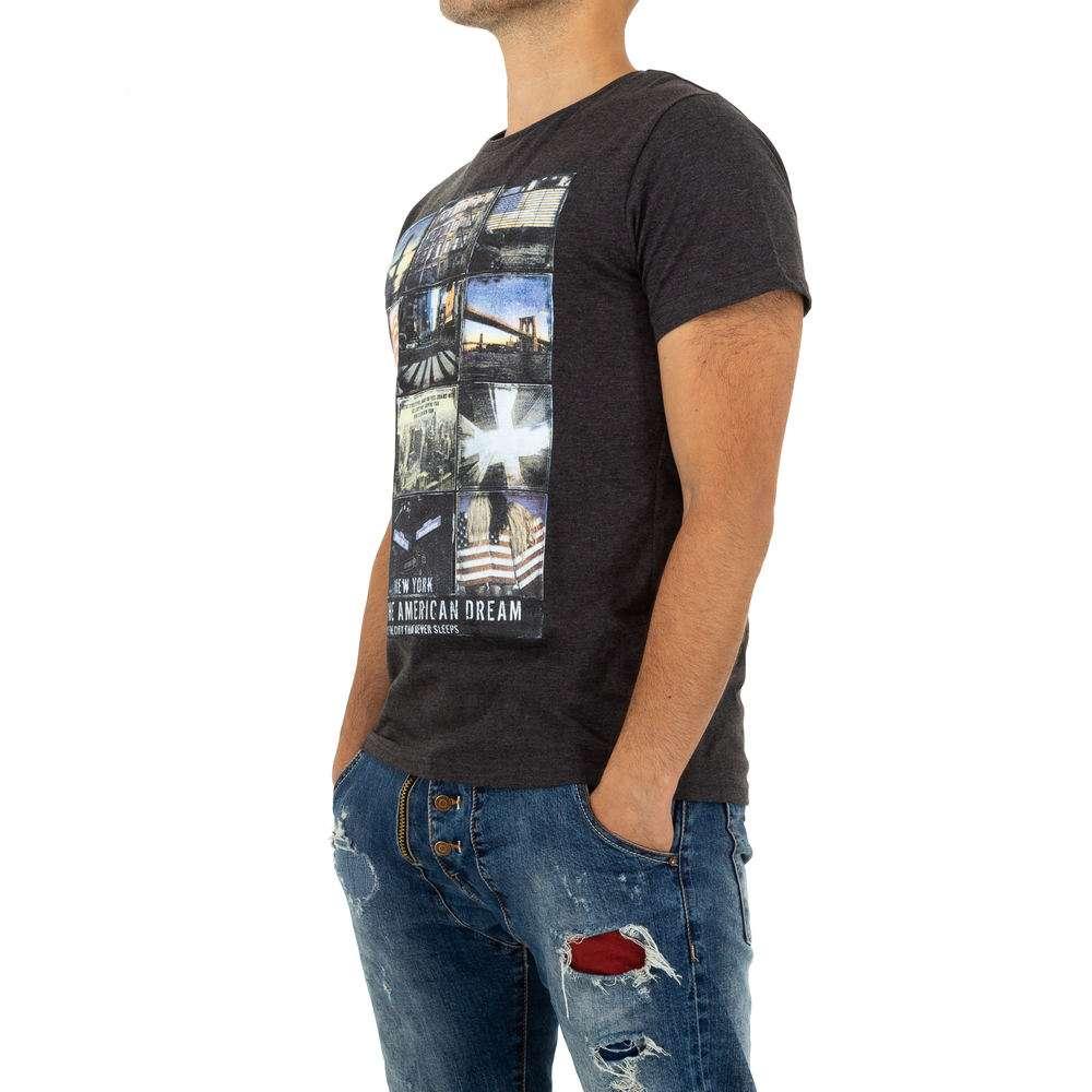 Tricou bărbătesc de la Glo Story - gri - image 2