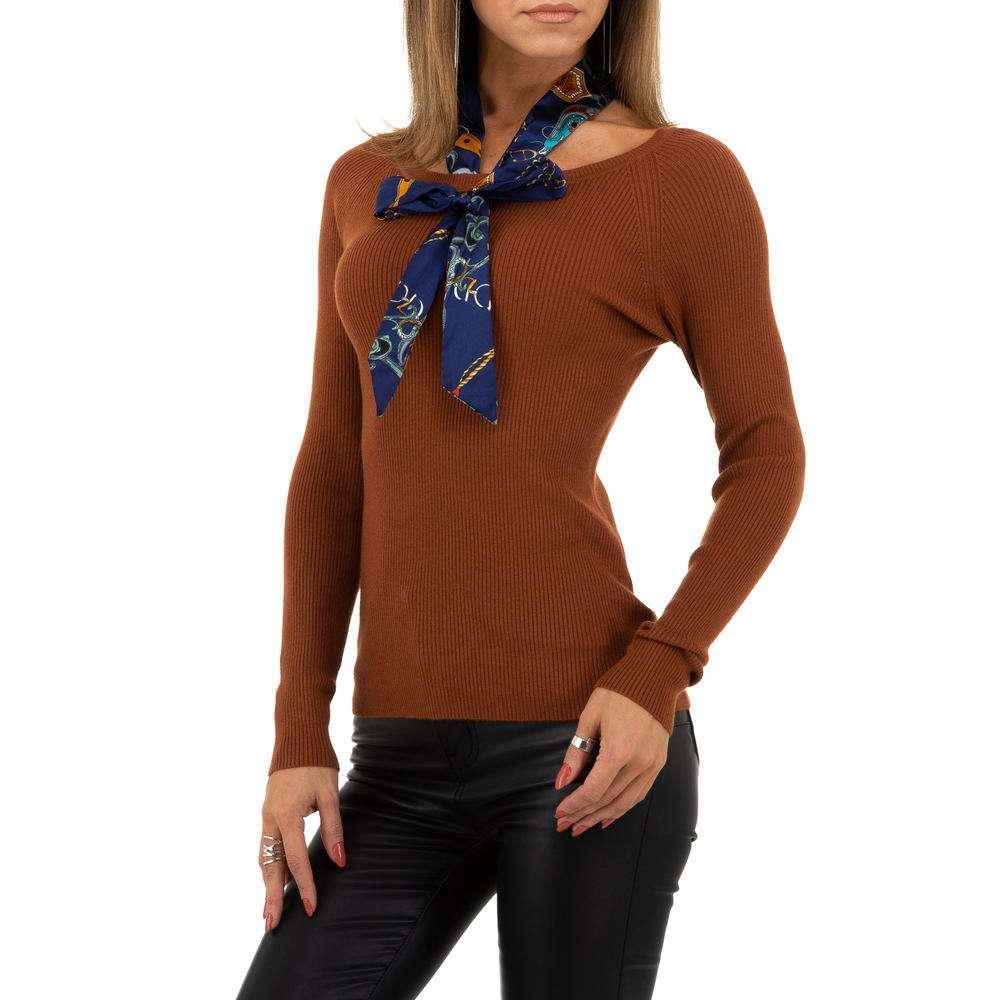 Pulover pentru femei de la Whoo Fashion Gr. O mărime - maro