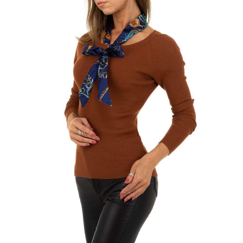 Pulover pentru femei de la Whoo Fashion Gr. O mărime - maro - image 4