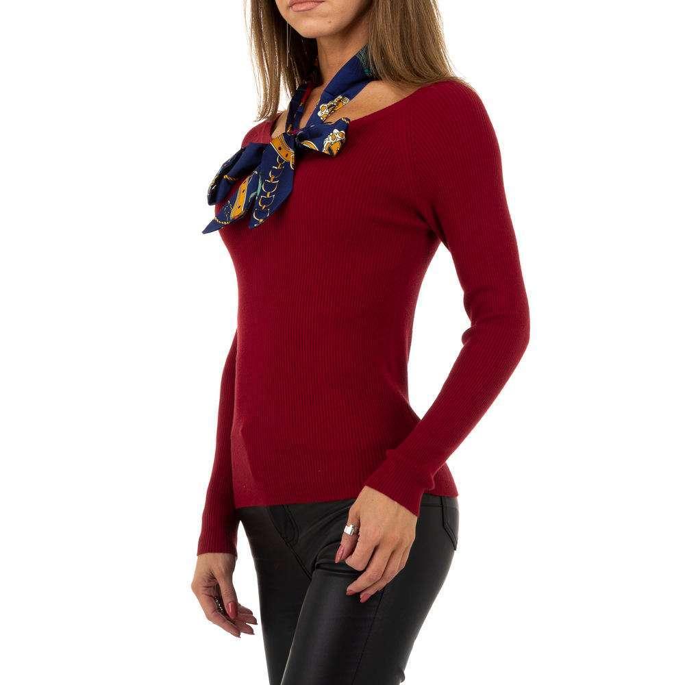 Pulover pentru femei de la Whoo Fashion Gr. O singură mărime - roșu - image 2