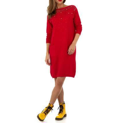 Damen Kleid von Whoo Fashion Gr. One Size - red