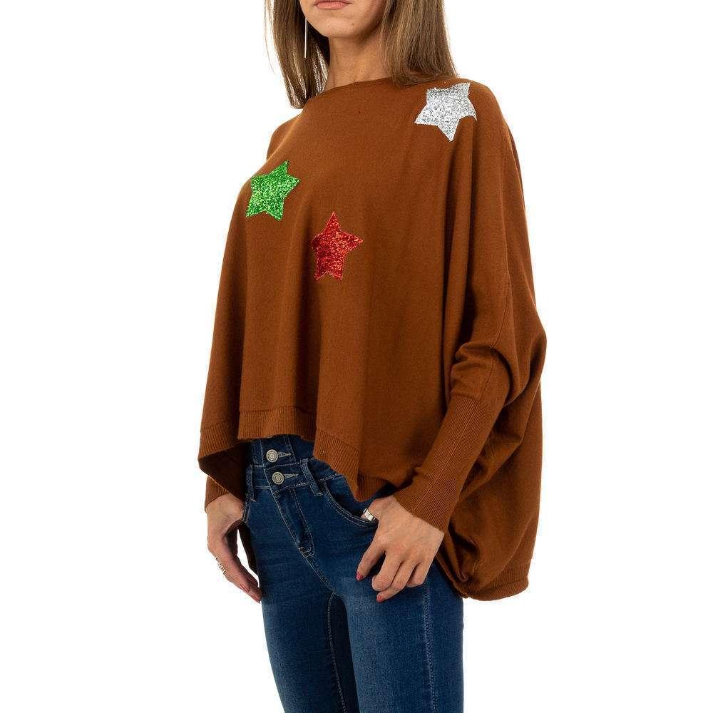 Pulover pentru femei de la Whoo Fashion Gr. O mărime - maro - image 2