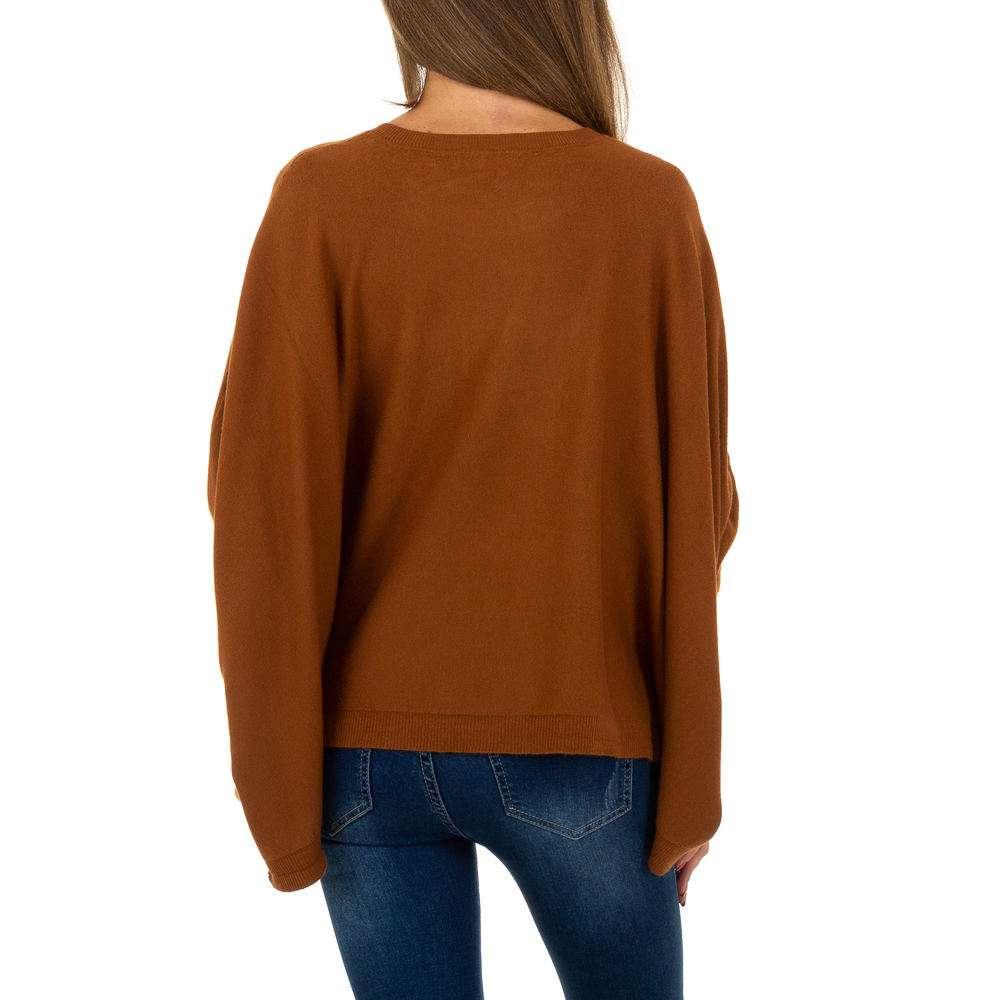 Pulover pentru femei de la Whoo Fashion Gr. O mărime - maro - image 3