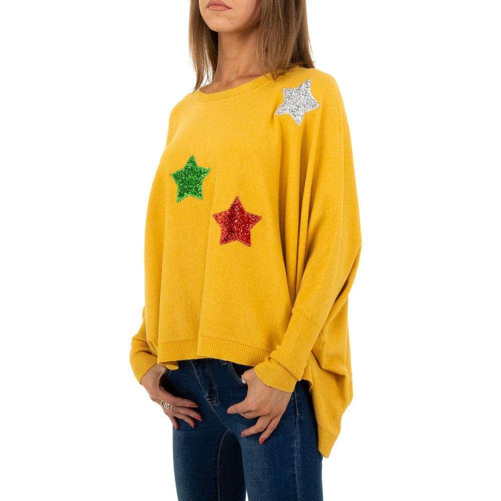 Pulover pentru femei de la Whoo Fashion Gr. O mărime - galben - image 2