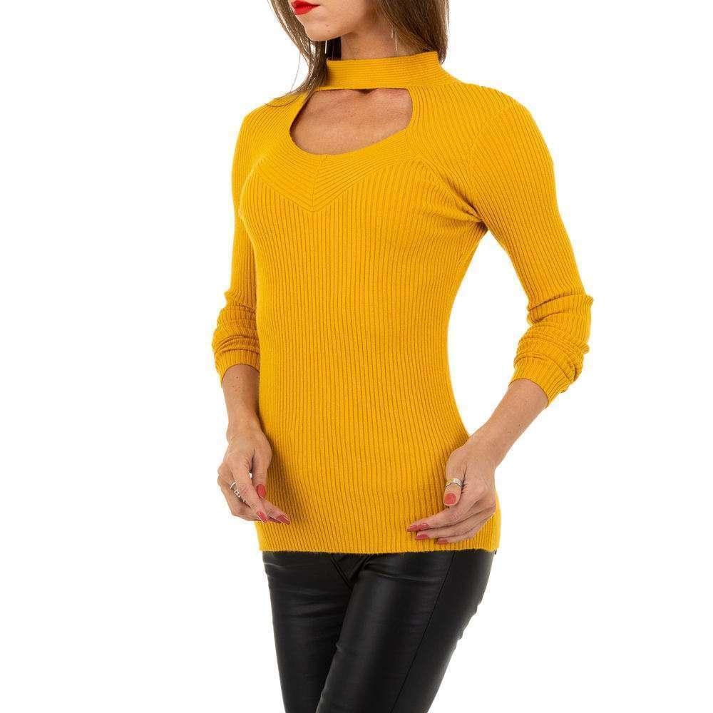 Pulover pentru femei de la Whoo Fashion Gr. O mărime - galben - image 4