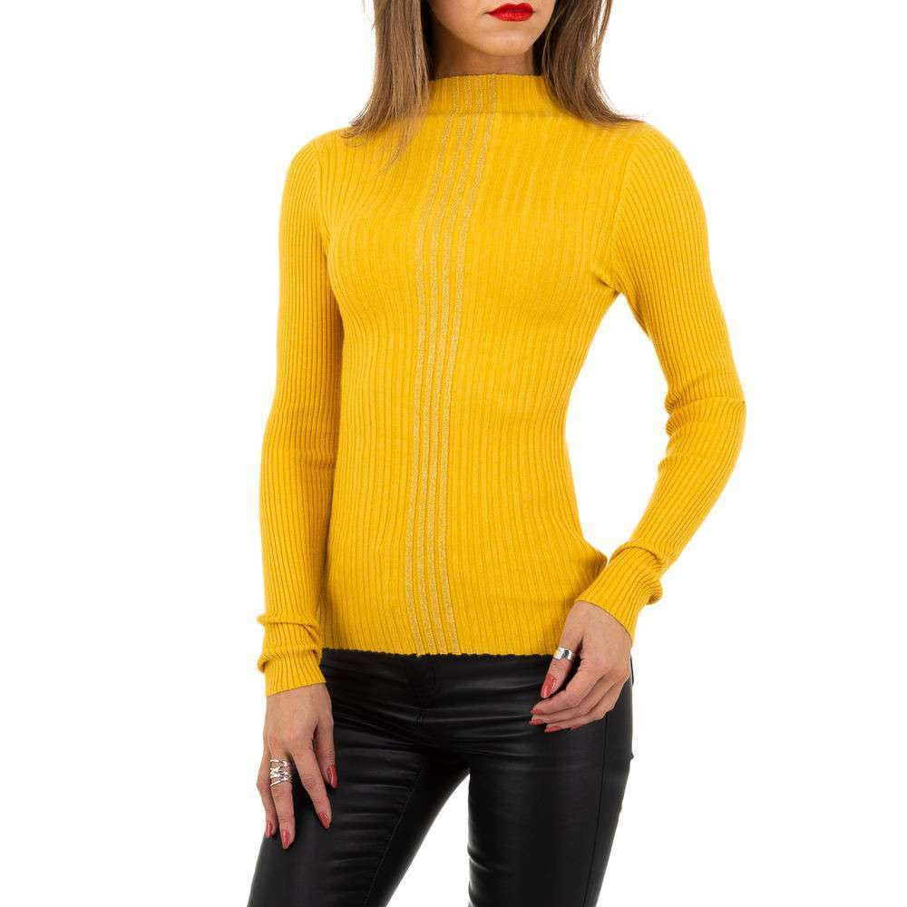 Pulover pentru femei de la Whoo Fashion Gr. O mărime - galben - image 1