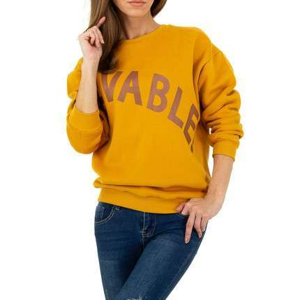 Damen Sweatshirt von Glo Story - yellow