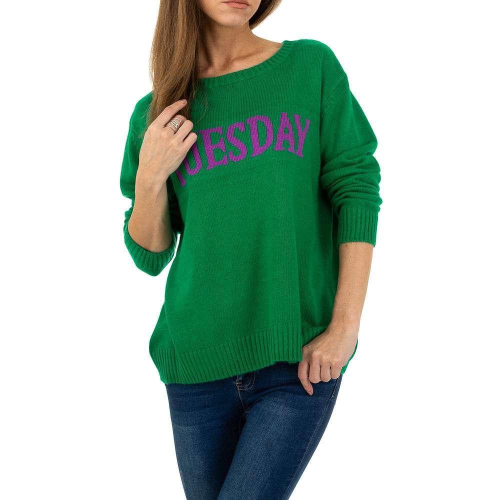 Pulover pentru femei de Glo storye Gr. O mărime - verde - image 4
