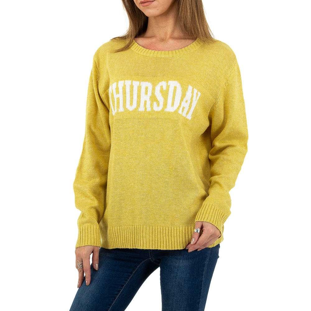 Pulover pentru femei de Glo storye Gr. O mărime - galben - image 1