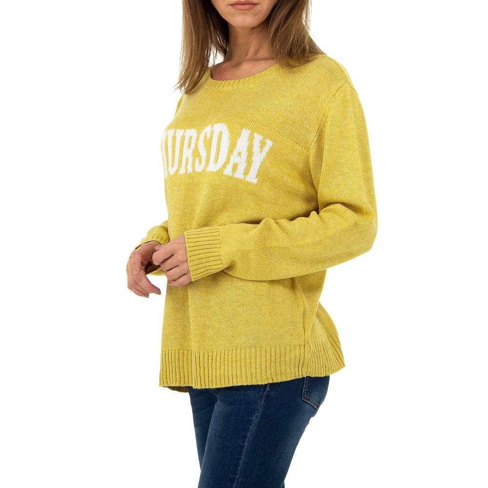 Pulover pentru femei de Glo storye Gr. O mărime - galben - image 2