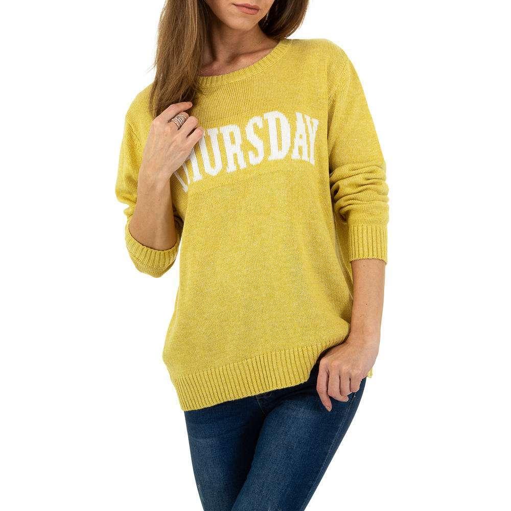 Pulover pentru femei de Glo storye Gr. O mărime - galben - image 4