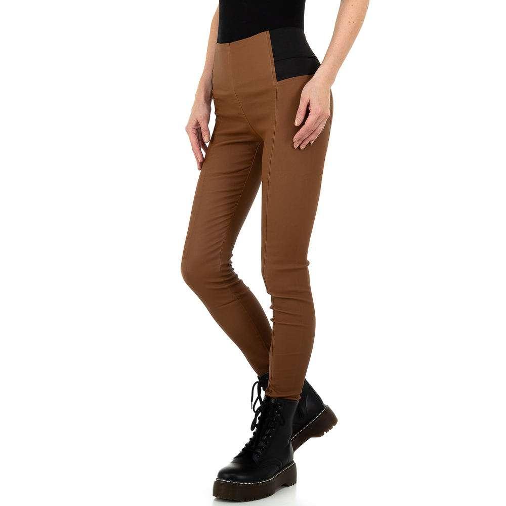 Pantaloni femei Laulia - maro - image 2