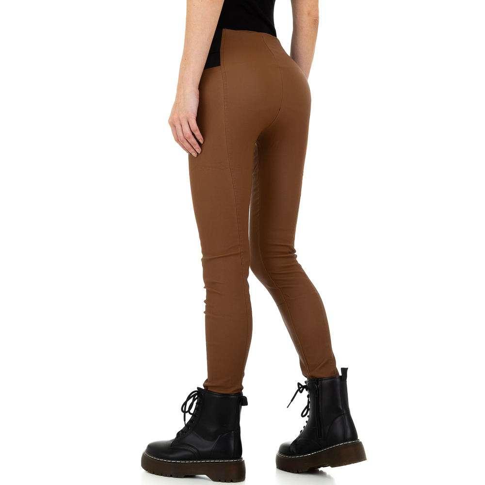 Pantaloni femei Laulia - maro - image 3