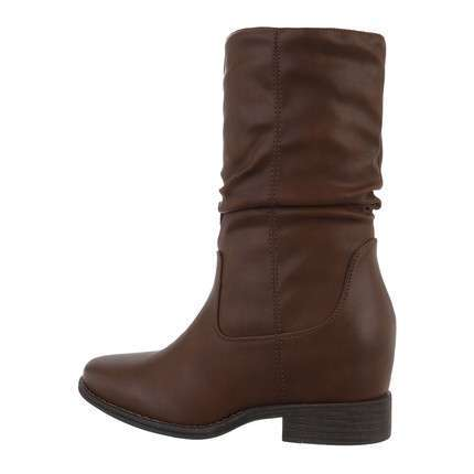 Damen Keilstiefeletten - brown
