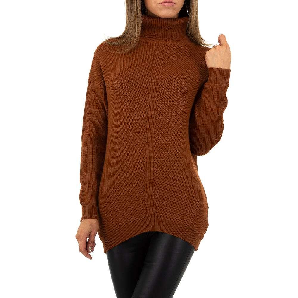 Pulover pentru femei de la Whoo Fashion Gr. O mărime - maro - image 1